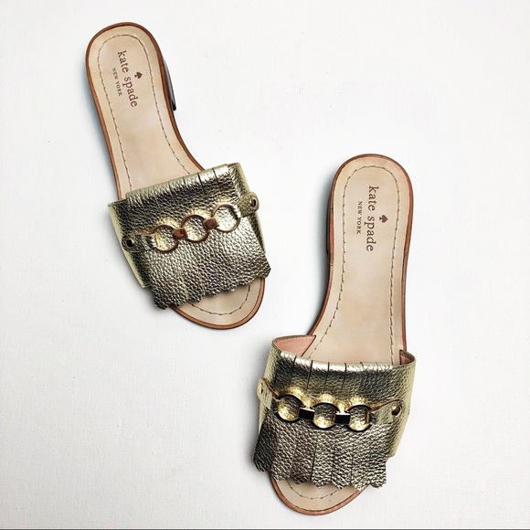 f0a6a01aafa7 kate spade Shoes - Kate Spade Brie Kiltie Slide Sandals